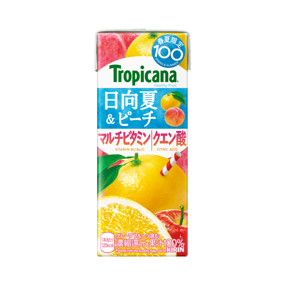 トロピカーナ ヘルシーフルーツ 日向夏&ピーチ(季節限定) 250ml 紙(LLスリム)